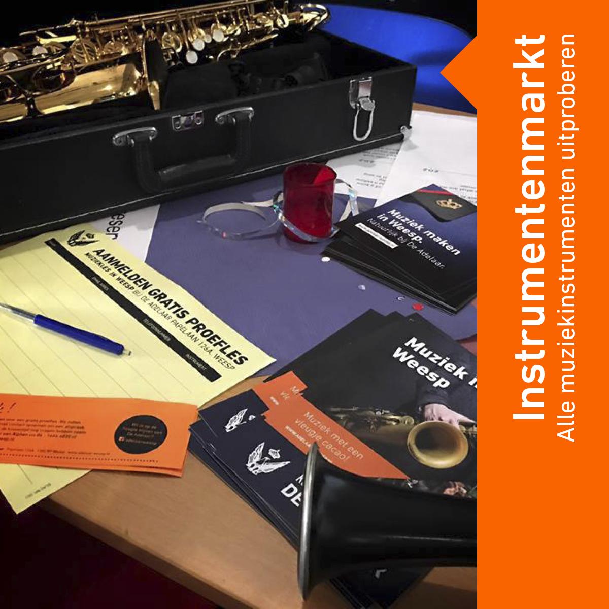 Muziekles in Weesp